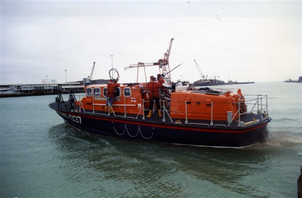 Photo: Illustrative image for the 'TYNE CLASS LIFEBOAT LAUNCH' page