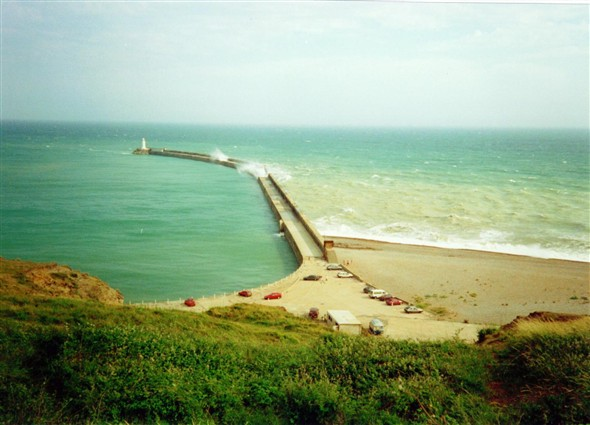 Photo:Breakwater from the fort - 1990