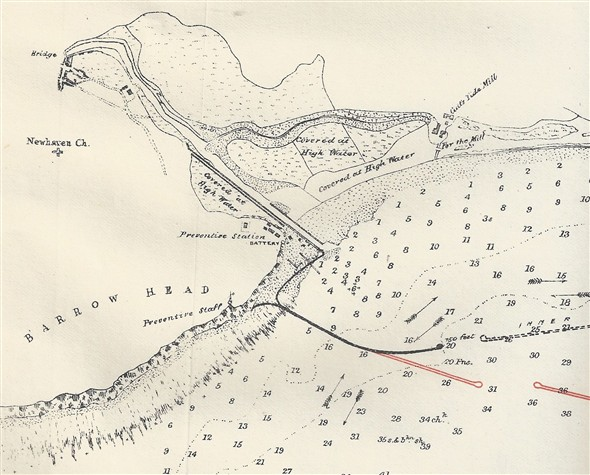 Photo:1884 map based on a survey of Seaford Bay from 1839