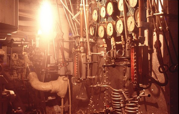 Photo:Oil-fired boilers for the steam turbines