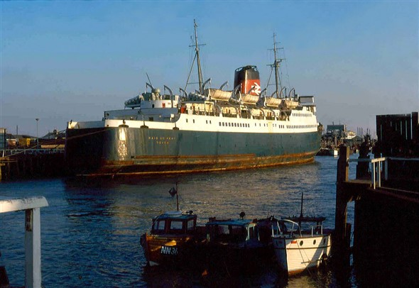 Photo:Maid of Kent - built 1959 3,920 Gross Tons for Dover - Calais or Boulogne service photo March 1973
