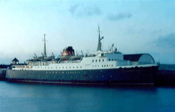 Photo:Caledonian Princess - built 1961 3,600 Gross Tons for Stranraer to Larne service