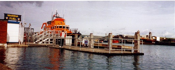 Photo:LIFEBOAT MOORED UP BY THE OLD FUEL STATION