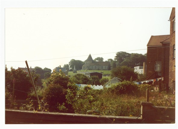 Photo:View from Rose Walk gardens towards Church hill - 1981