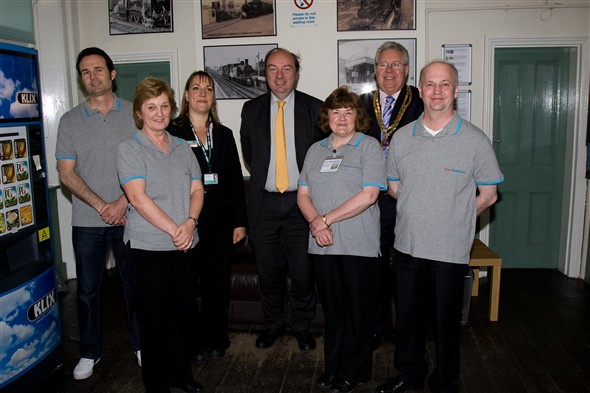 Photo:Ournewhaven editors, Kate- southern rail, Norman Baker MP, Mayor - Graham Amy