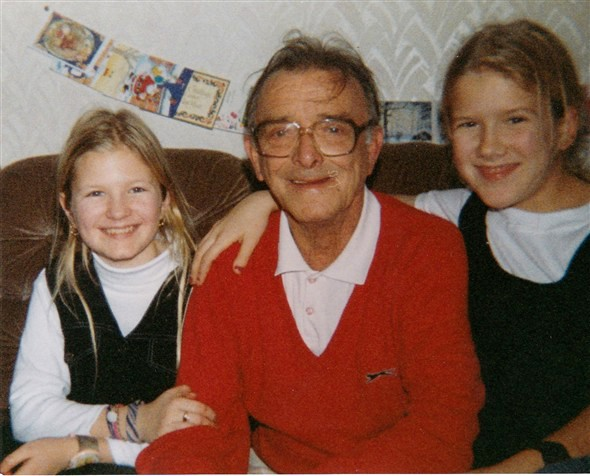Photo:Alfred Wiltshire with Tammy & Katrina his two grandaughters