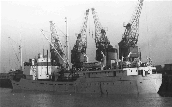 Photo:Alfred Everard - built 1957 - 1,543 gross tons - An Everard ship but seen here in colours of Hays of Glasgow