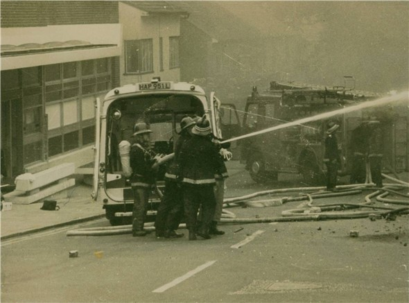 Photo:Arrows Fire - 1976