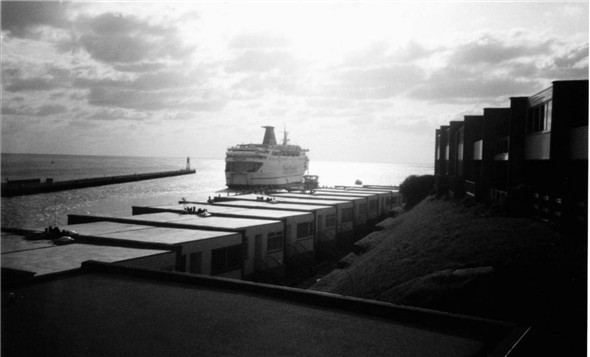 Photo:Stena Londoner Leaving / Fort Gate Flats - c1990