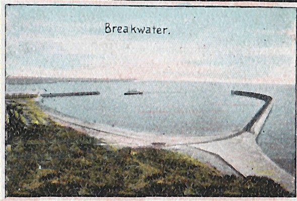 Photo:Breakwater from Fort c1900