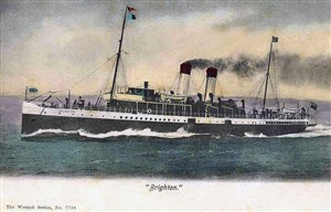 Photo:SS Brighton postcard