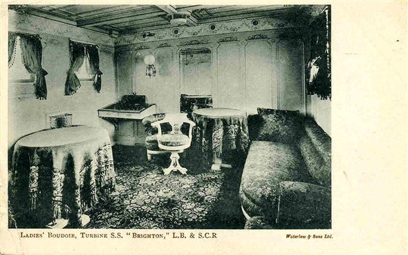 Photo:Luxury of the ladies boudoir on the 1903 SS Brighton