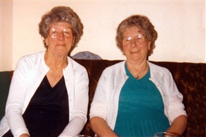 Photo:Daisy Wilkinson & Elsie Walton 1980s