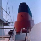 Photo:The ship's extraordinary funnel