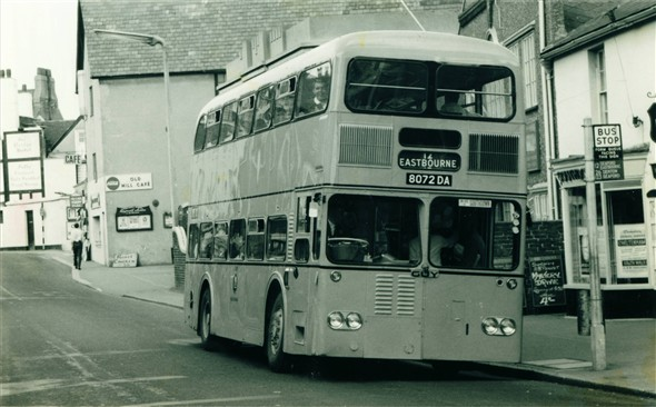Photo:Southdown Bus in Bridge Street - C1960