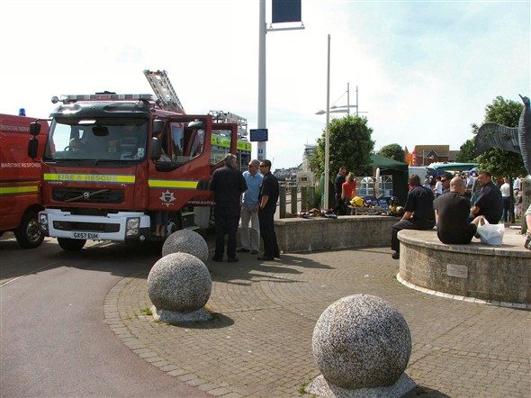 Photo:The Fire Engine departed on a 'shout' a minute or so later!