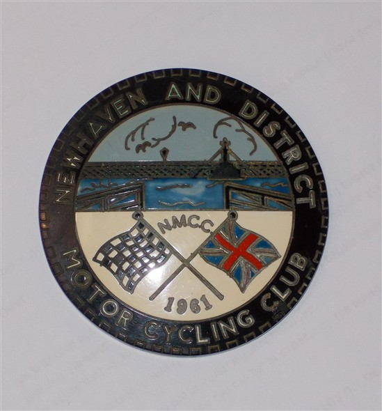 Photo:Newhaven and District Motorcycling Club badge, 1961