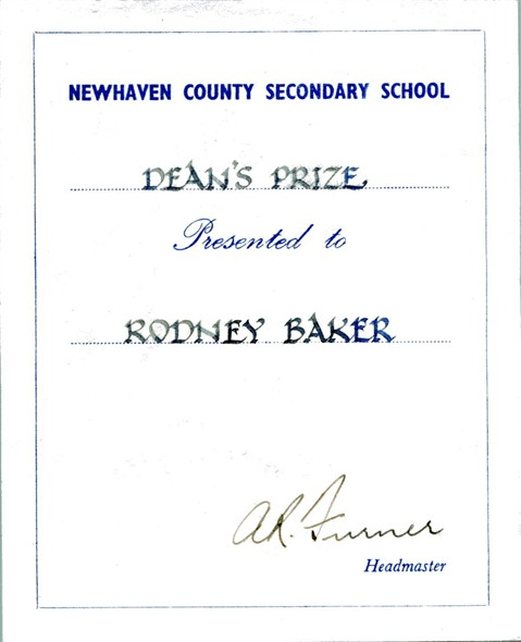 Photo:Rod's Dean's Prize Certificate