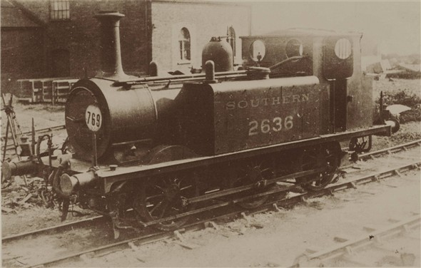 "Photo:Terrier 2636 ""Fenchurch"" at the Newhaven shed - C1935"