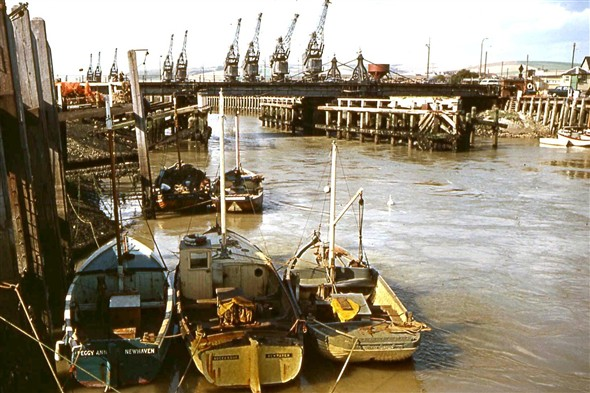 Photo:(6) - Fishing Boats / old Swing Bridge