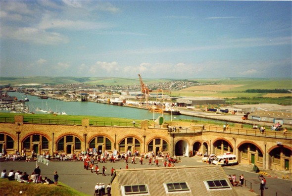 Photo:View of the casements and Harbour - 1990