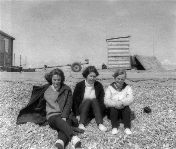 Photo:Seaford Beach. Susan Herriott, Liz Gilbert, Linda Capon