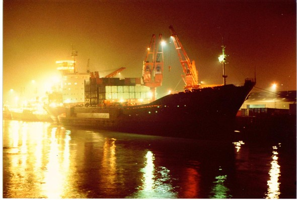 Photo:Harbour at night (2) 1983