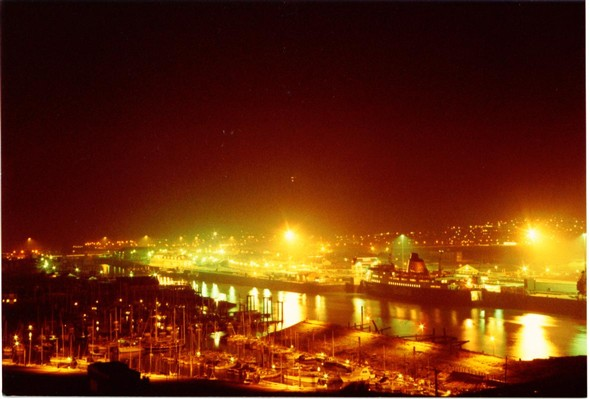Photo:Harbour at night (3) 1983
