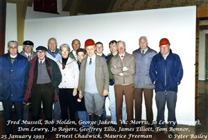 Photo:Local dignitaries & others visit the tunnel 25 January 1993