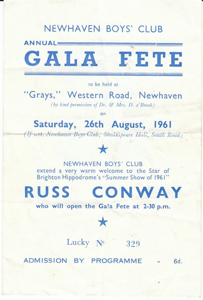 Photo: Illustrative image for the 'NEWHAVEN BOYS' CLUB GALA FETE PROGRAMME' page
