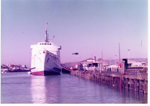 Photo:Moored Ferry awaits next duty 1983