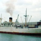 Photo:Mardina Packer - one of the traditional style ships to call built 1961 for Elders & Fyffes as Chuscal