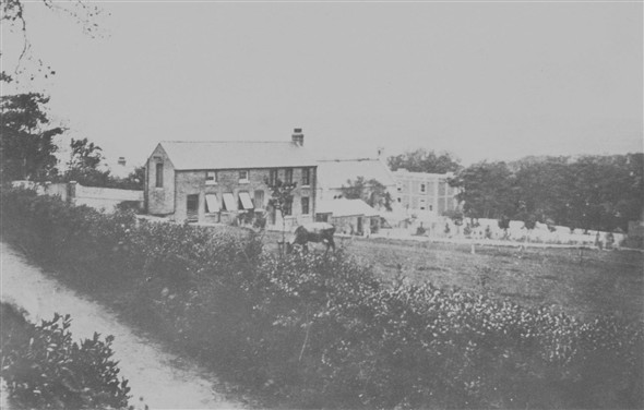 Photo:CONVENT FIELDS (Now Neils Close), TOWARDS LAUNDRY BUILDING (Now Meeching rise), CONVENT TO THE RIGHT
