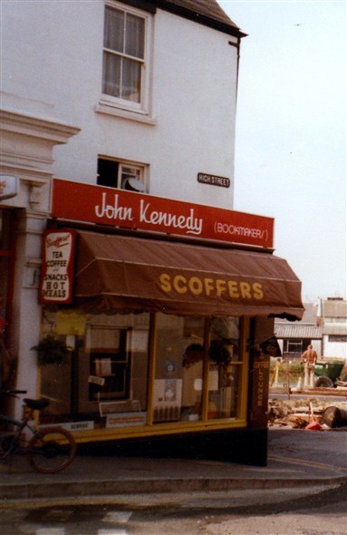 Photo:Scoffers and John Kennedy Bookmakers - 1983
