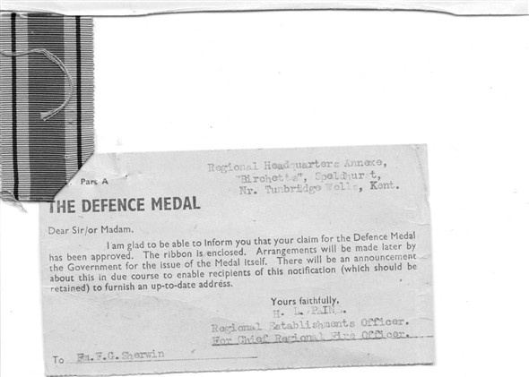 Photo:Award of Defence Medal