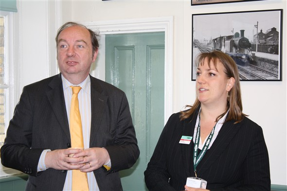 Photo:Norman Baker MP, Kate - Southern Rail