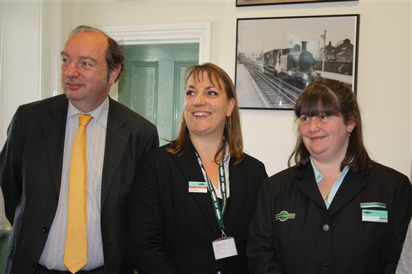 Photo:Norman Baker MP, Kate and Angie - Southern Rail