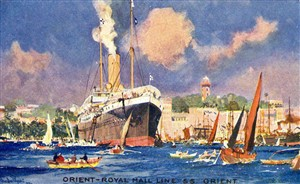 Photo:SS Orient of the Orient Line aboard which George & Lucy Redman returned to England