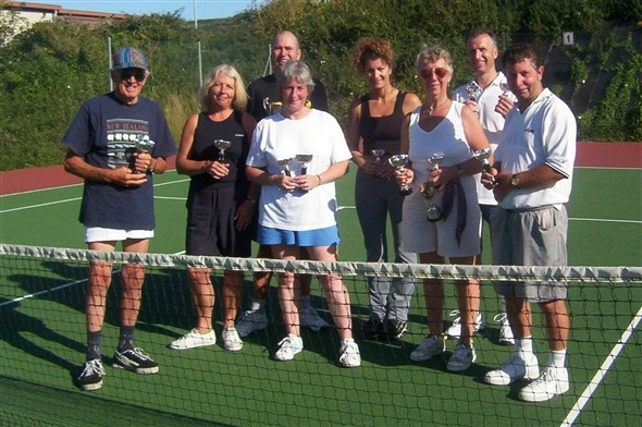 Photo:Club Doubles Finalists of July 2003