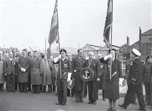 Photo:Cememony at Riverwall in 1960