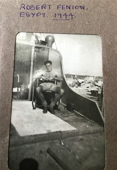 Photo:Robert Fenton on board H.S.L.121