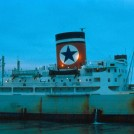 Photo:Blue Star Line - Rockhampton Star unusually looking in need of some attention to her hull built 1958 9,920 gross tons