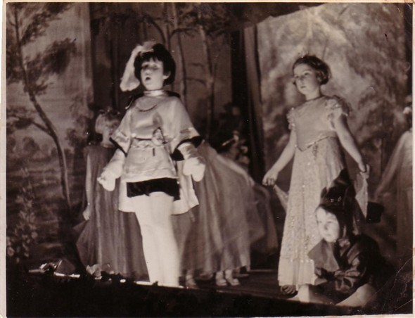 Photo:Sleeping Beauty: Tessie Simmonds, Yvonne, John Milne