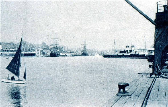 Photo:VIEW FROM THE EAST QUAY LOOKING N/W - c1900