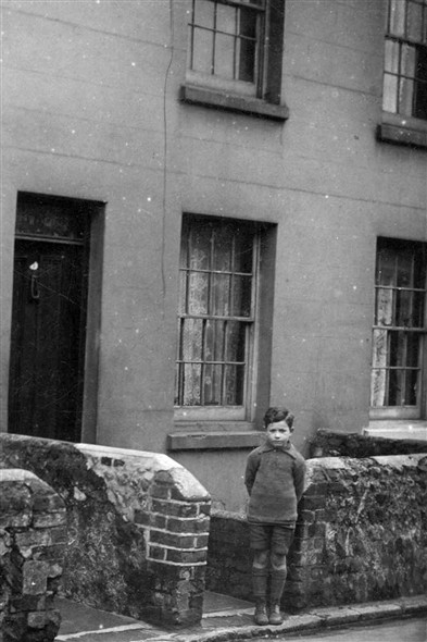 Photo:My Father Albert Howard aged about 5 outside his home 5 Sussex Place around 1924.