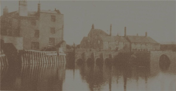 Photo:Mill from the creek - 1880