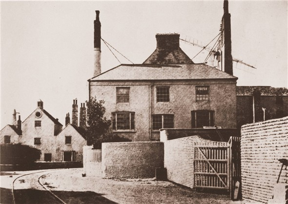 Photo:Tidemills - 1870 (manager's house with the mill behind) Looking South