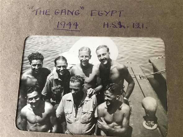 "Photo:""The Gang"" H.S.L. 121 Egypt 1944"
