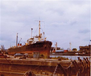 Photo:A A Raymond at Bilbao for scrapping in July 1971