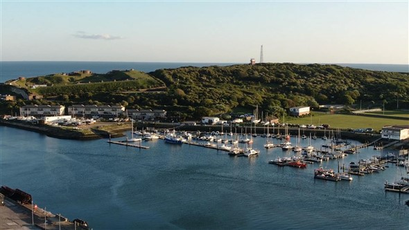 Photo:Castle Hill and the Marina - almost picturesque enough for a postcard!